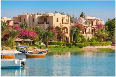 El Gouna lagoon in Egypt